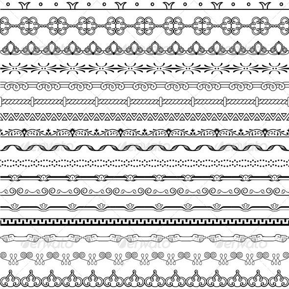 GraphicRiver Design Horizontal Elements 5540835