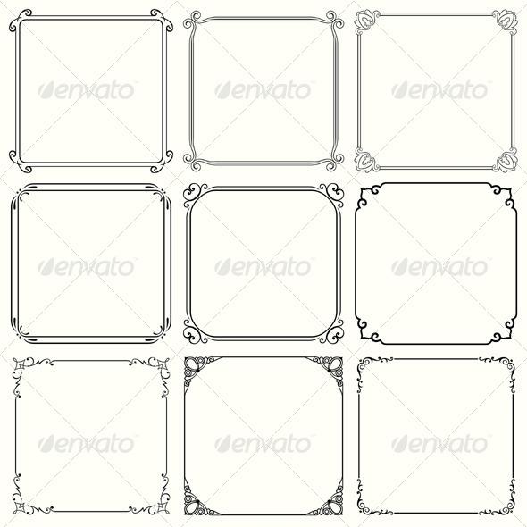 GraphicRiver Decorative Frames 5540843