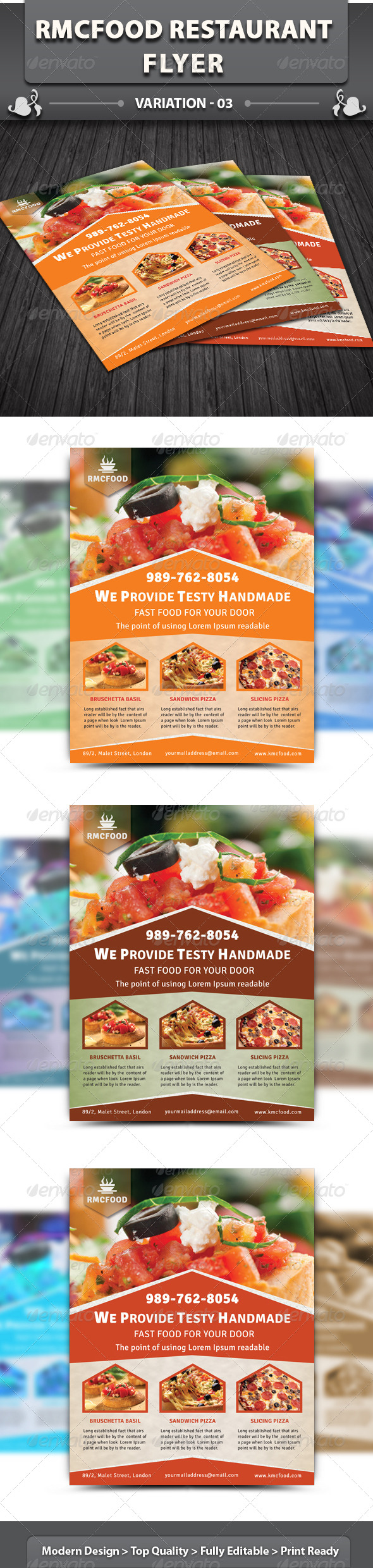 GraphicRiver RMC Food Restaurant Flyer 5541004