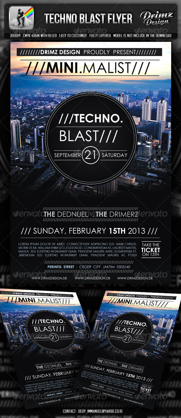 GraphicRiver Techno Blast Flyer 5541293