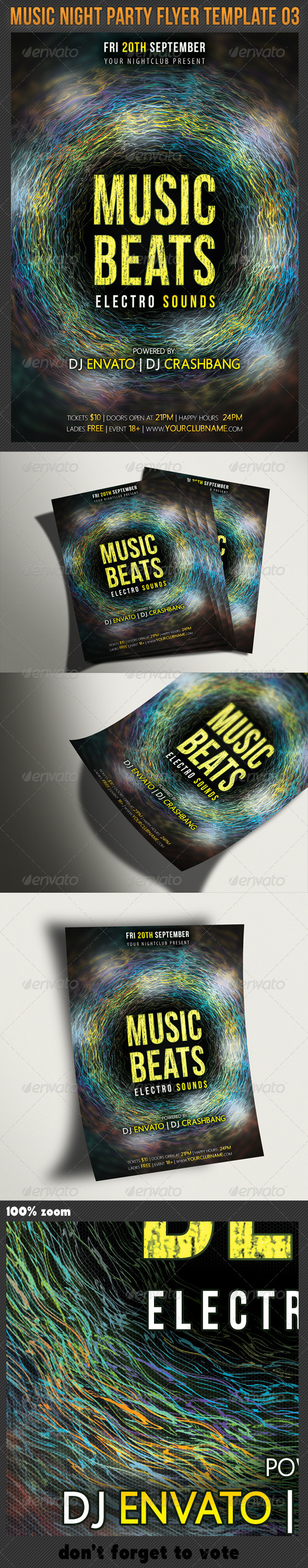 Music Night Party Flyer Template 03 - Clubs & Parties Events