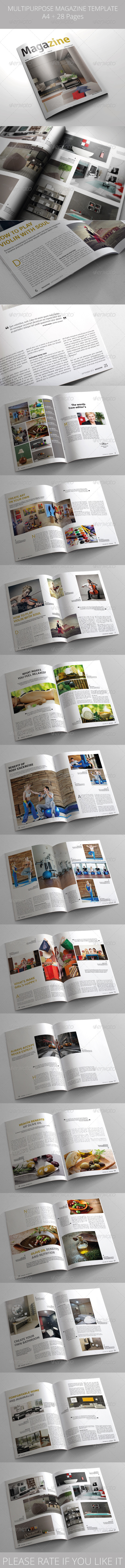 GraphicRiver Multipurpose Magazine Template 5541711