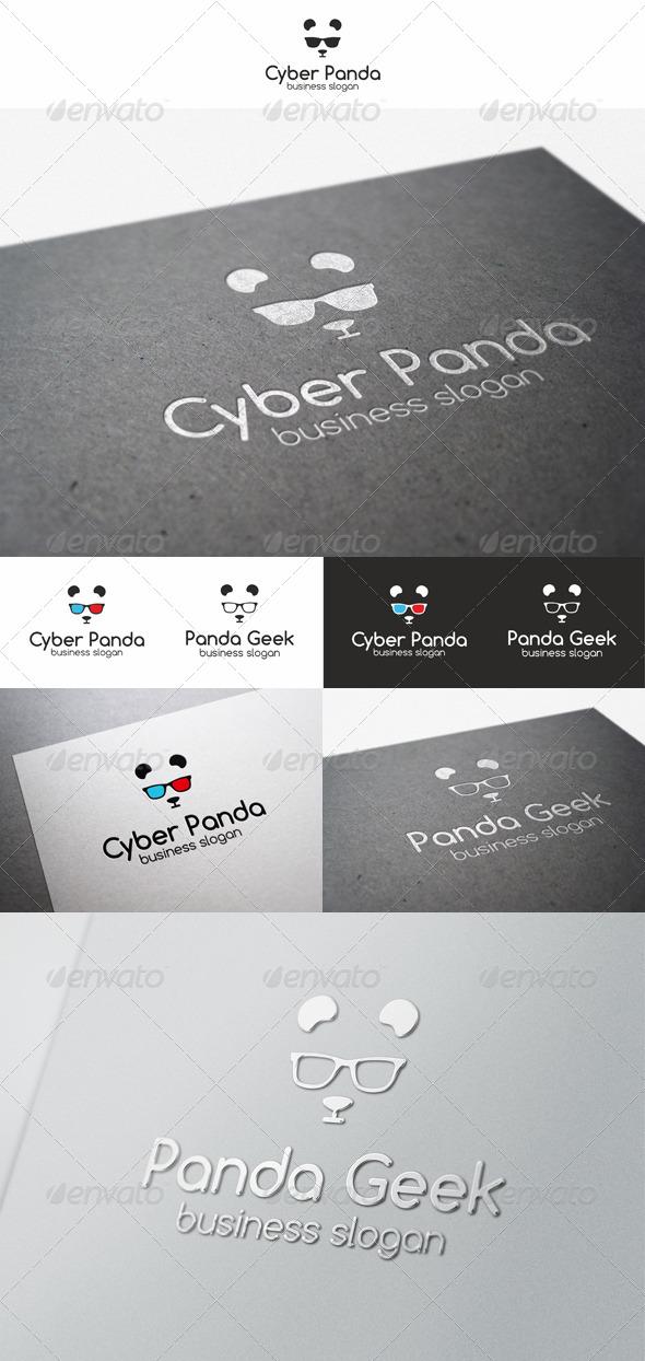 GraphicRiver Panda Geek Logo Animal 5542204
