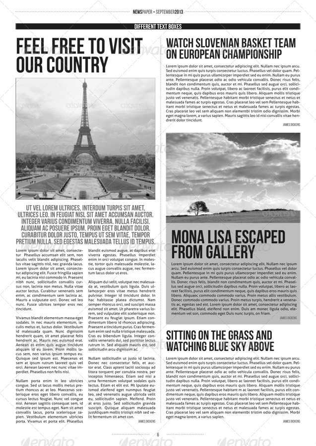 It is a photo of Influential Printable Newspaper Article