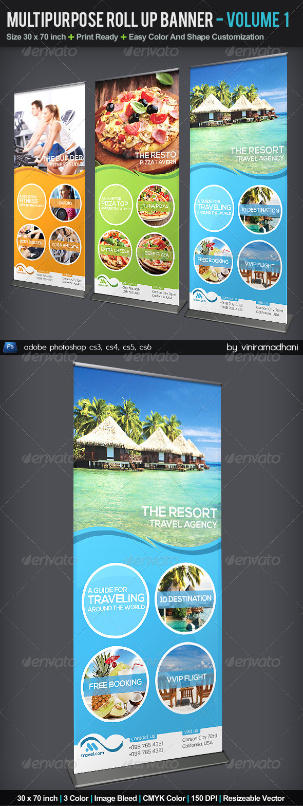 GraphicRiver Multipurpose Roll Up Banner Volume 3 5542322