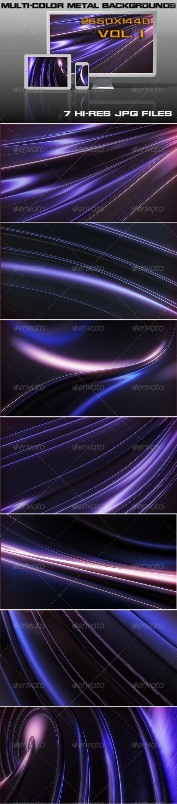 GraphicRiver Multi-Color Metal Background 5542403