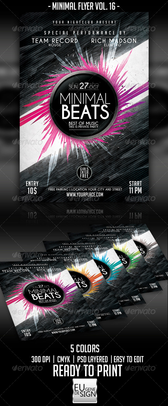 GraphicRiver Minimal Flyer Vol 16 5542431