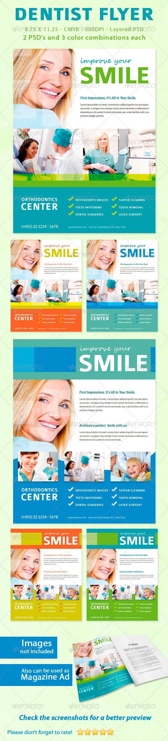 GraphicRiver Dentist Flyer Magazine Ad 5542503