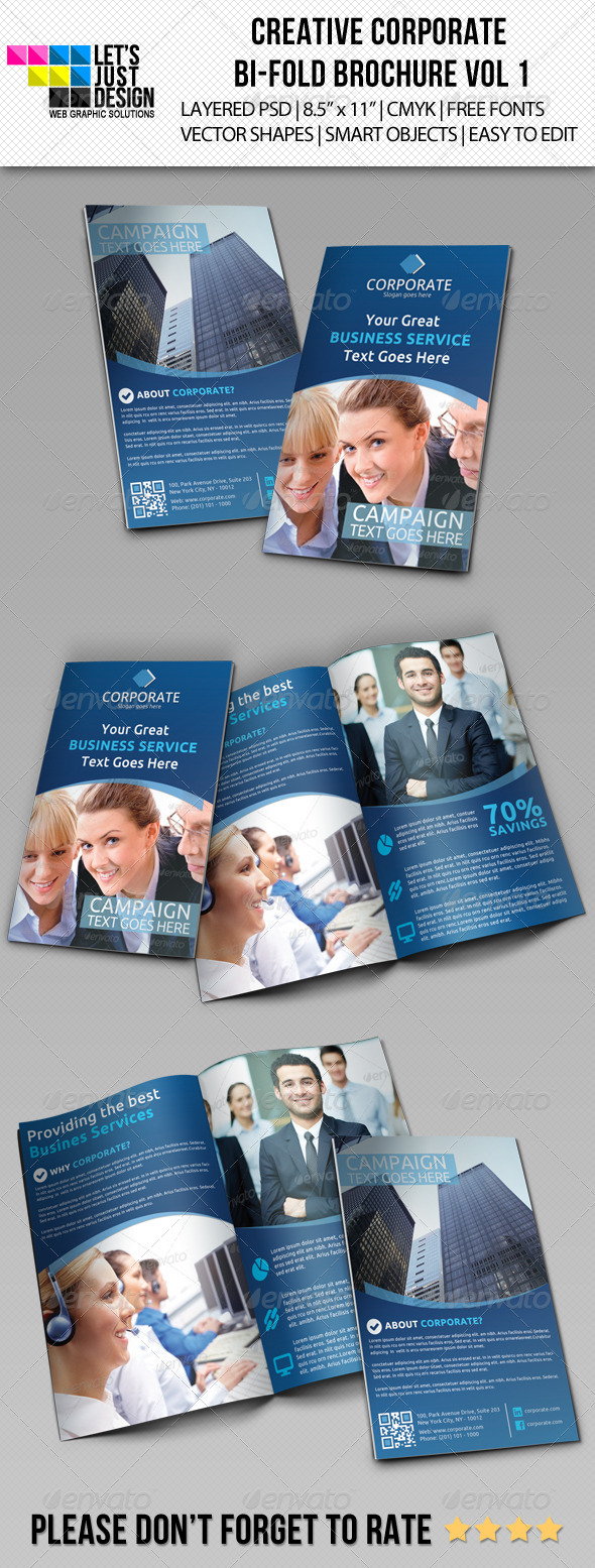 GraphicRiver Creative Corporate Bi-Fold Brochure Vol 1 5518296