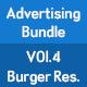 Burger Restaurant Advertising Bundle - GraphicRiver Item for Sale