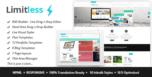 ThemeForest Limitless Multipurpose Drag n Drop Theme 5528738