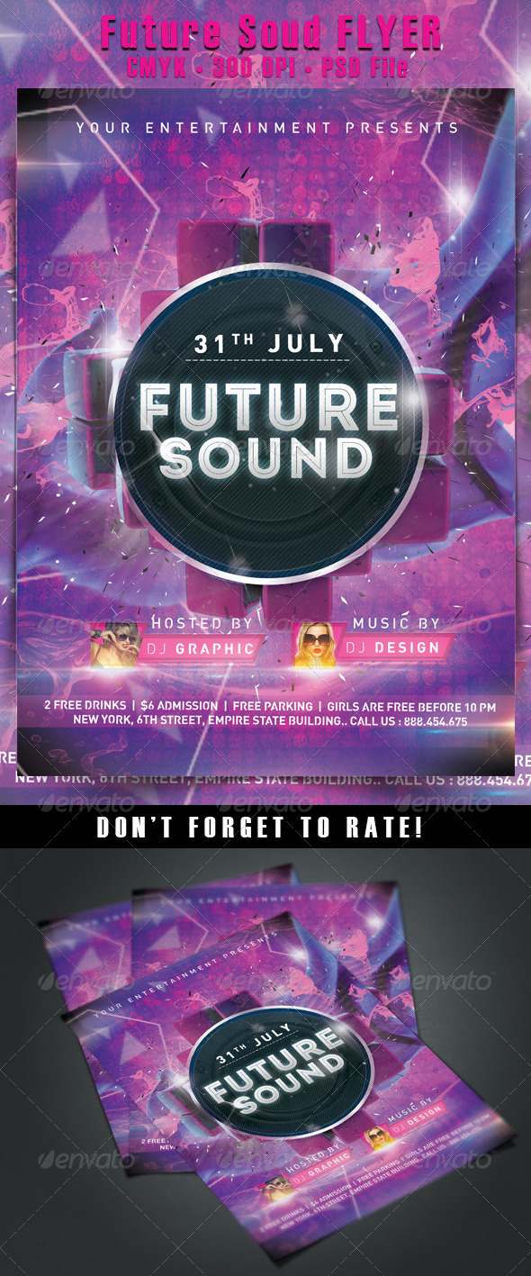 GraphicRiver Future Sound Flyer 5515173