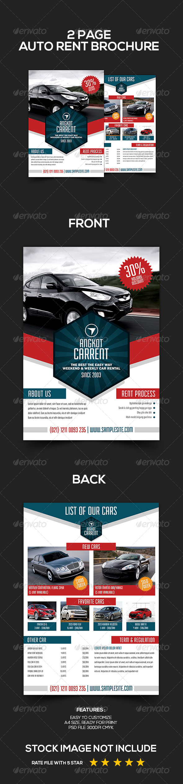 GraphicRiver Rent a Car Brochure Template 5518032