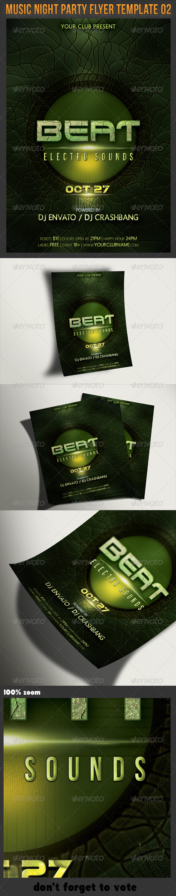 GraphicRiver Music Night Party Flyer Template 02 5521904