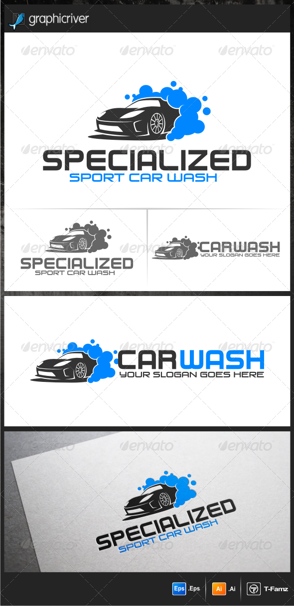 Sport Car Wash Logo Templates