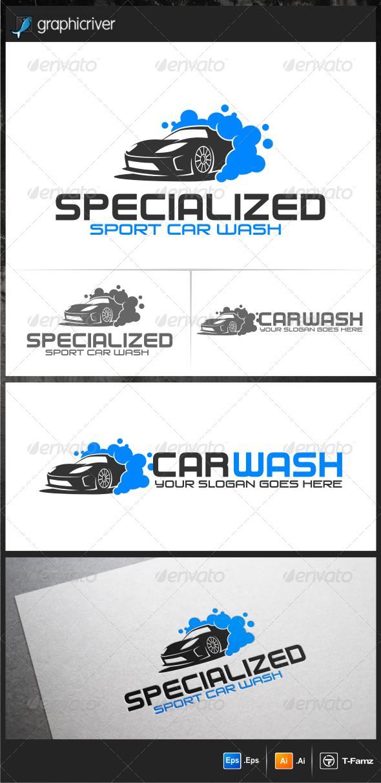 GraphicRiver Sport Car Wash Logo Templates 5543247