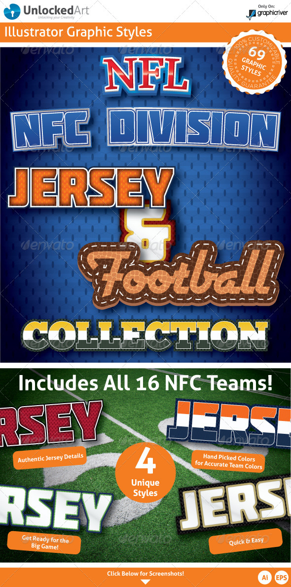 NFL - NFC Division Graphic Styles - Styles Illustrator