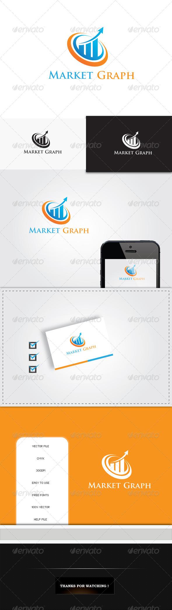 GraphicRiver Market Graph Logo Template 5543657