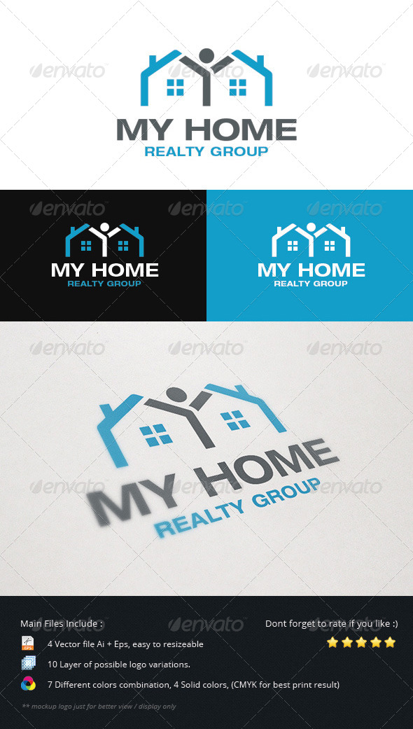 GraphicRiver Home Realty Group Logo 5507571