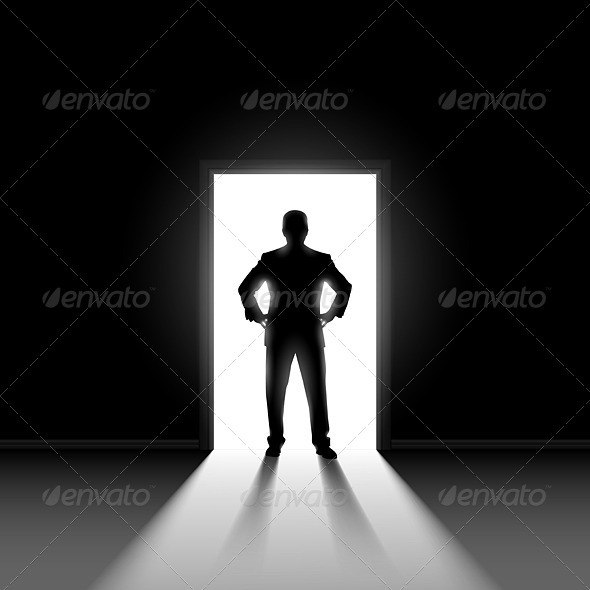 GraphicRiver Silhouette of Man Standing in Doorway 5543745