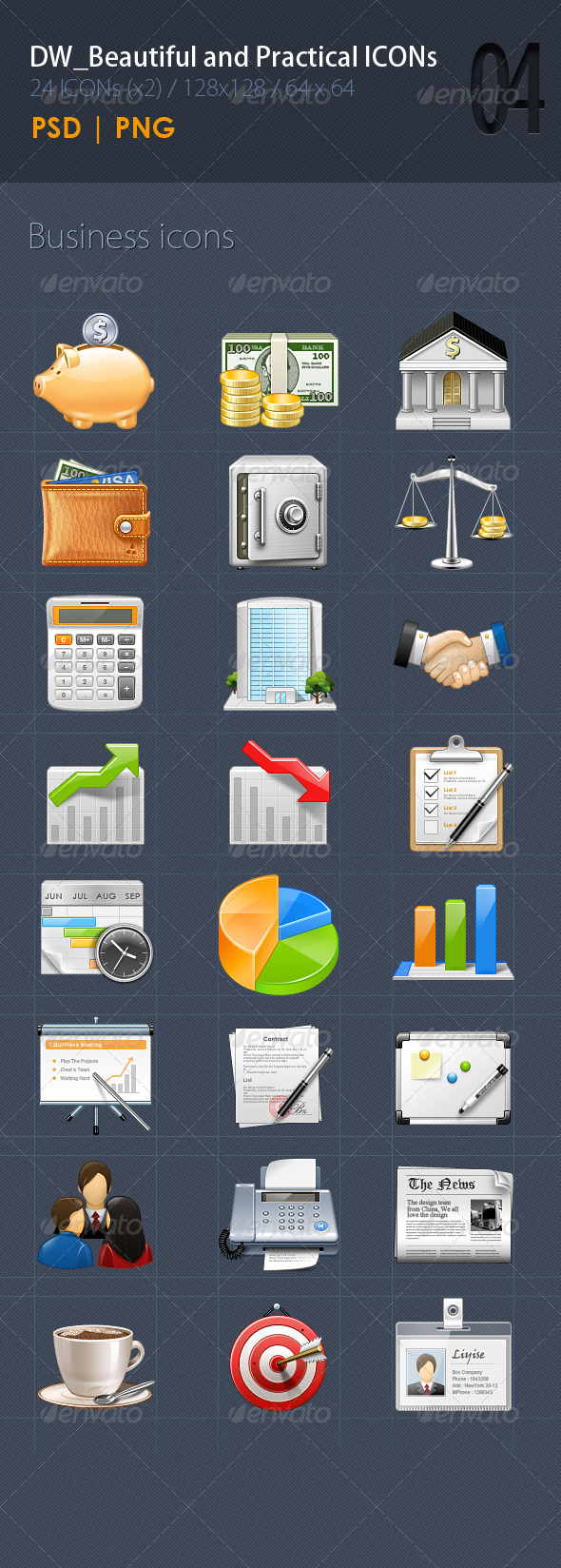 GraphicRiver 24 Beautiful&Practical ICON4 5543761