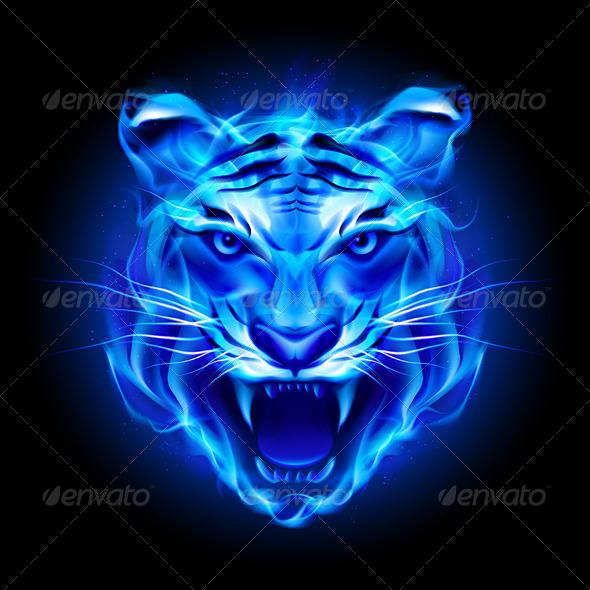 GraphicRiver Head of Fire Tiger 5543863
