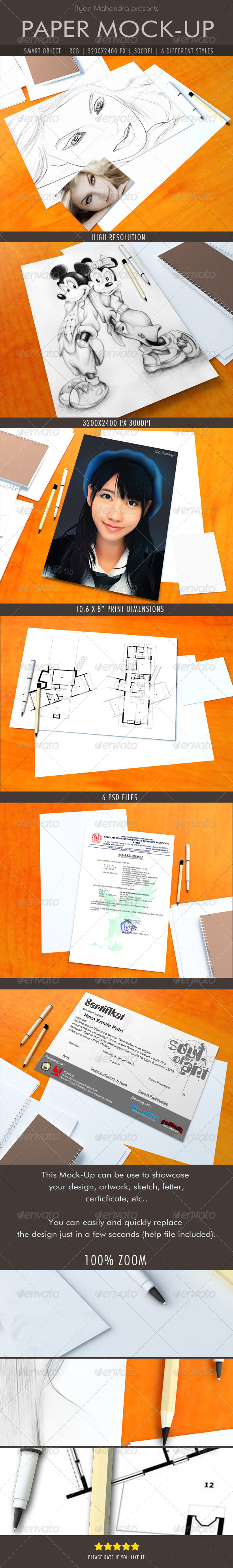 GraphicRiver Paper Mock-Up 5544141
