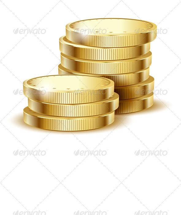 GraphicRiver Coins Gold 5544372