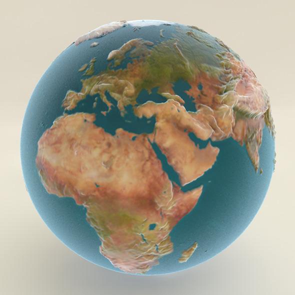 3DOcean Earth Textures & Shaders 5544377