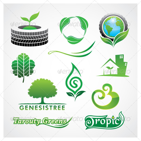 GraphicRiver Vector Greens 5544543