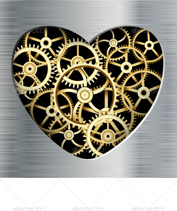 GraphicRiver Metal Heart 5544612
