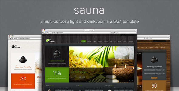 Sauna - Responsive Jooma Template - Health & Beauty Retail