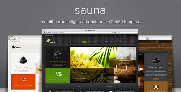 Sauna - Responsive Jooma Template - Screenshot 01 - Sauna Responsive Joomla Template