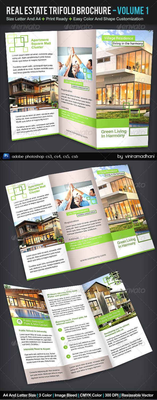 GraphicRiver Real Estate TriFold Brochure Volume 1 5544901