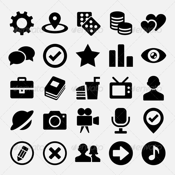 GraphicRiver Social net icons set 5544960