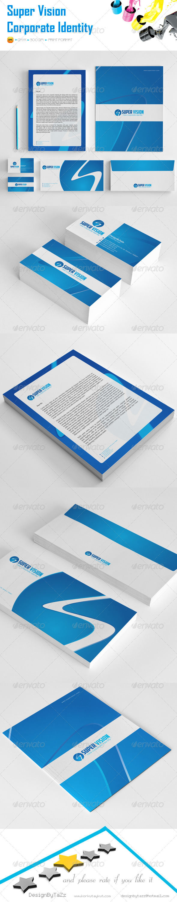 GraphicRiver Super Vision Corporate Identity Package 5545198