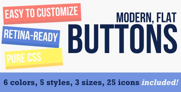 CodeCanyon Flat Modern Buttons 5545285