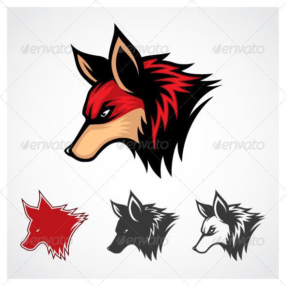 GraphicRiver Vector Fox Symbol 5545288