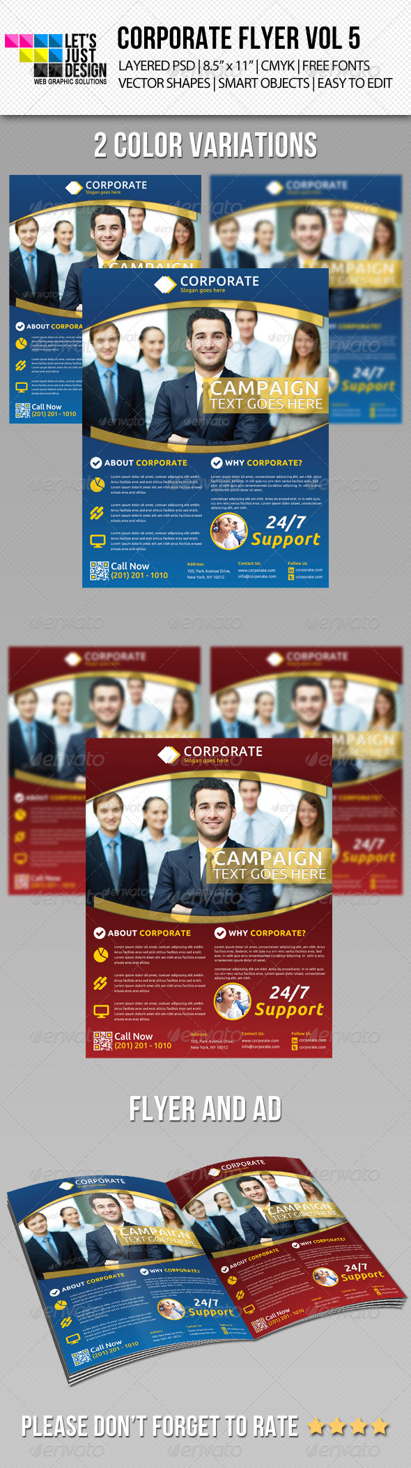 GraphicRiver Corporate Flyer Template Vol 5 5545355