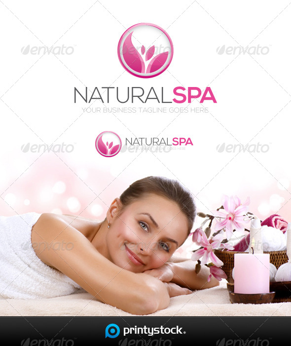 GraphicRiver Natural Spa Logo Template 5545388