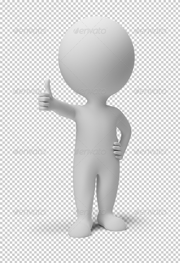 GraphicRiver 3D small people positive pose 5545451