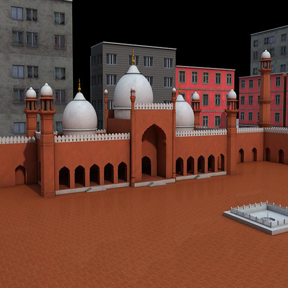 3DOcean Masjid Model 5545470