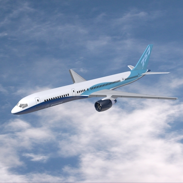 Boeing 757-200 commercial airplane - 3DOcean Item for Sale