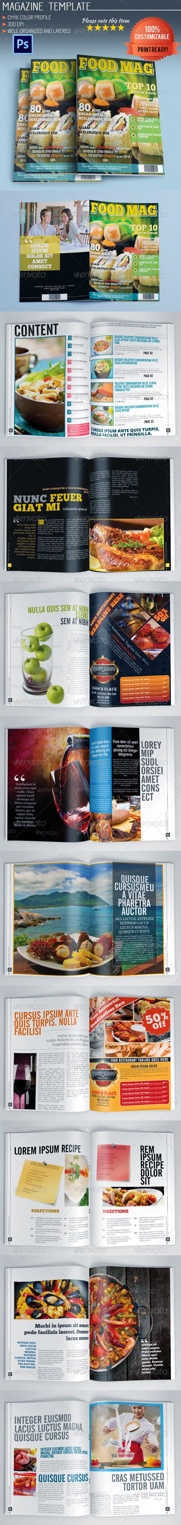 GraphicRiver Food Magazine 5545584
