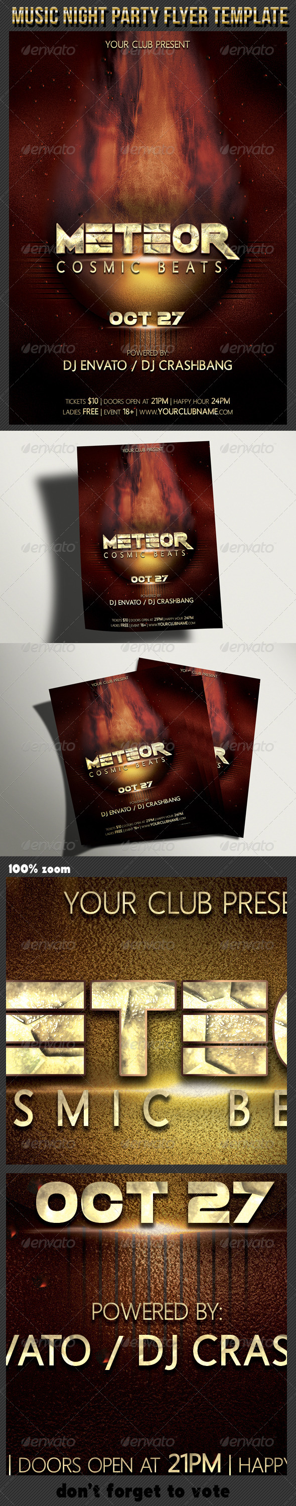 Music Night Party Flyer Template - Clubs & Parties Events