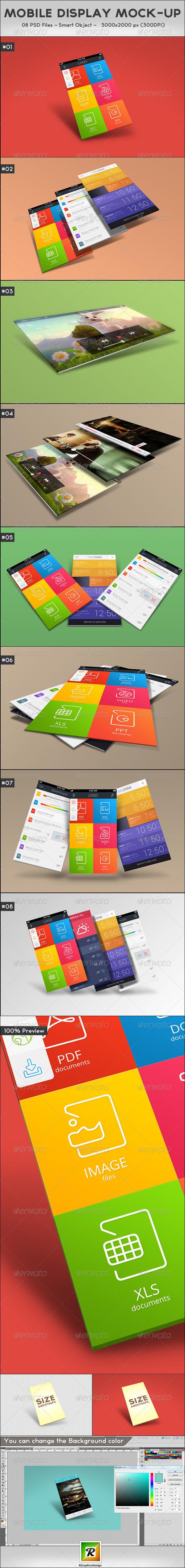 GraphicRiver Mobile Display Mock-Up 5545991