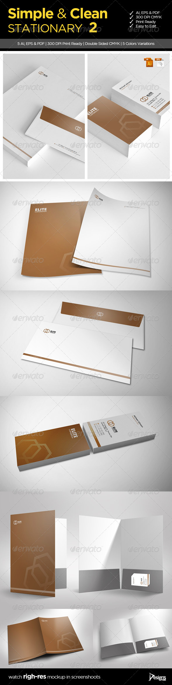 GraphicRiver Simple and Clean Stationary 2 5524938