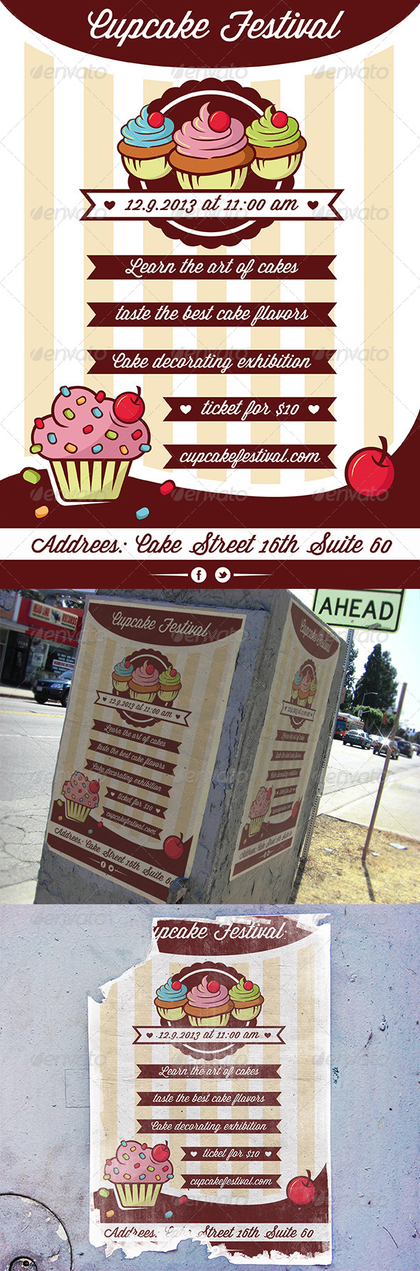 GraphicRiver Cupcake Bakery Flyer 5546404