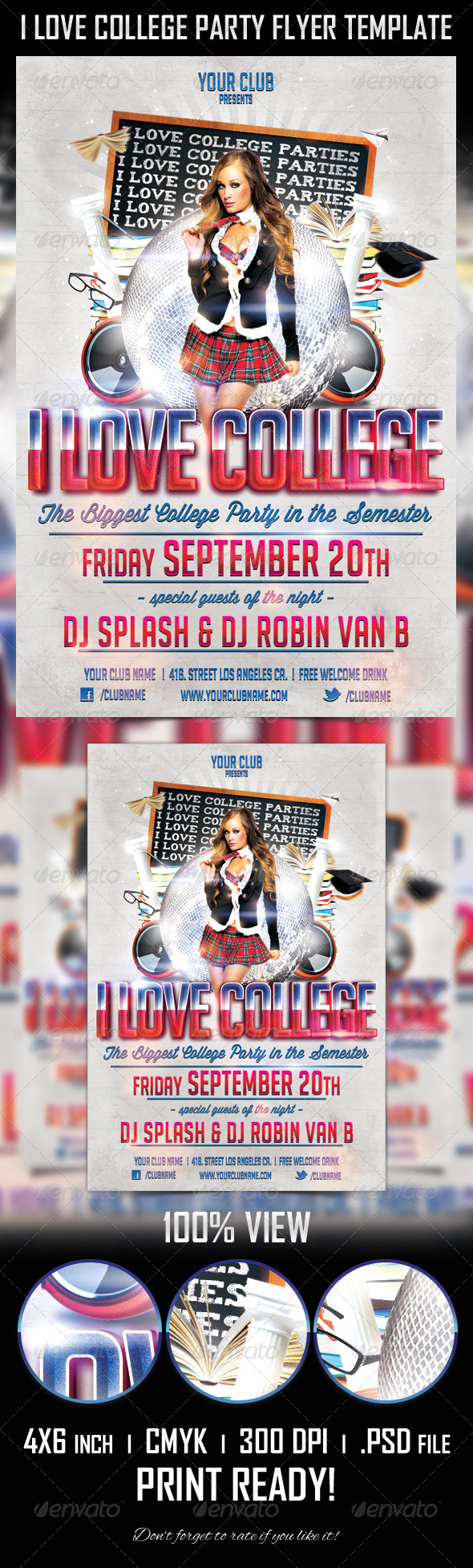 College Party Flyer Template