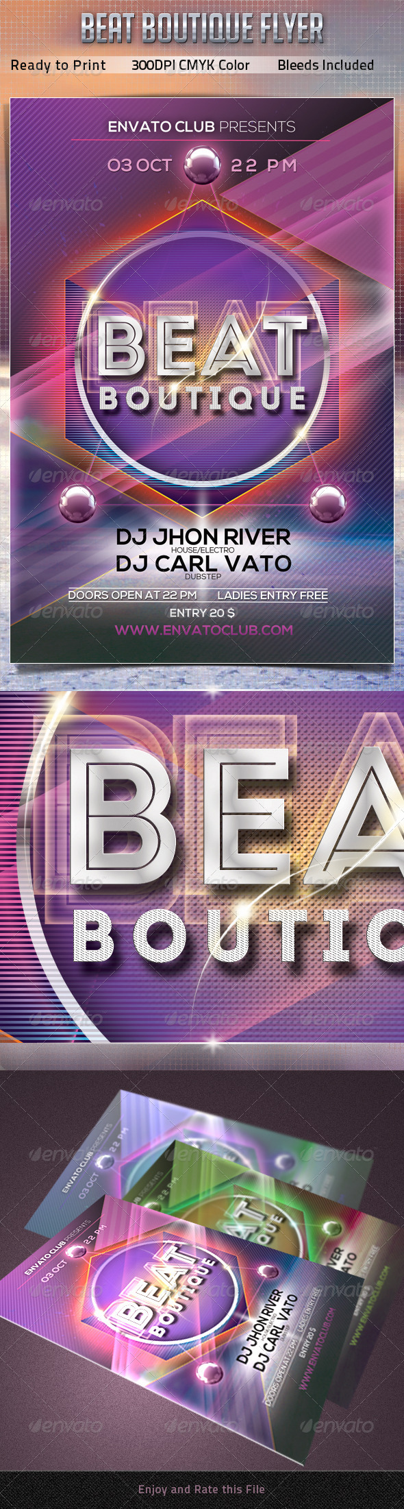 GraphicRiver Beat Boutique Flyer 5546653
